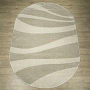 Ковер Веста 46103-45025, 60х110см, овальный, бежево-белый с рисунком