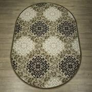 Ковер Круиз 22302-29626, 60х110см, овальный, бежево-коричневый с рисунком