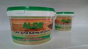 Лак ALOE для бань и саун для внутренних работ, вододисперсионный, акриловый, 0.9кг, глянцевый
