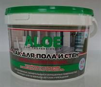 Лак ALOE для пола и стен, для наружных и внутренних работ, вододисперсионный, акрил-полиуретановый, 0.9кг, глянцевый