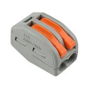 Клемма REXANT 07-5252-4, 2-проводная, 0.08-2.5(4)мм2, универсальная, многоразовая, серый, упаковка 200шт.