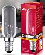 Лампа накаливания Camelion для вытяжек 40/T25/CL/E14, E14, 40Вт, 220В, 350lm, прозрачная