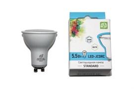 Лампа светодиодная ASD LED-JCDRC-standard,  4000К, 5.5Вт, 230В, 495Лм, GU10