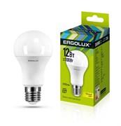 Лампа светодиодная Ergolux LED-A60-12W-E27-3K, ЛОН, 12Вт, 180-240В, Е27