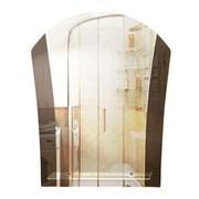 Зеркало фигурное с тонированным зеркалом САНАКС 45505, 540х670мм, полка 400мм, комбинированное