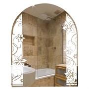 Зеркало фигурное с матированным рисунком САНАКС 45613, 535х680мм, полка 500мм, комбинированоое