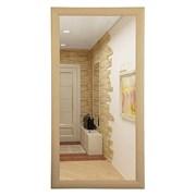 Зеркало прямоугольное в деревянной рамке дуб МДФ САНАКС 45751, 410х610х55мм/610х410х55мм (горизонтальное+вертикальное)