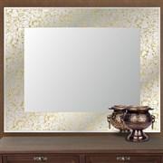 Зеркало прямоугольное с золотым орнаментом САНАКС 46809, 518х730мм, с универсальным креплением к стене