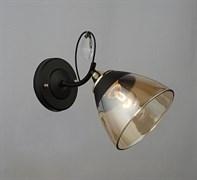 Светильник настенный/бра N3807/1W, 1x40W, E27, высота 220мм, BK+FGD черный/золото