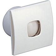 Вентилятор вытяжной осевой Sotomento 100К, с обратным клапаном, белый