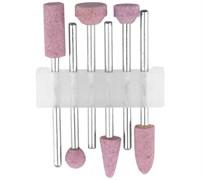 Насадки STAYER 29920-H6 шлифовальные абразивные с оправкой оксид алюминия, набор 6шт.