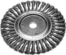 Щетка-крацовка STAYER 35192-200 дисковая для УШМ, 200мм, М14, проволока 0.5мм