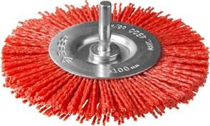 Щетка-крацовка дисковая Зубр 35161-100 для дрели, 100мм, нейлоновая проволока с абразивным покрытием