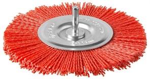 Щетка-крацовка дисковая Зубр 35161-125 для дрели, 125мм, нейлоновая проволока с абразивным покрытием