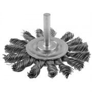 Щетка-крацовка дисковая ЗУБР 3522-075 для дрели, 75мм, жгутированная стальная проволока 0.5мм