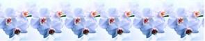 Фартук кухонный Голубая орхидея, 3000х600х1.5мм, пластик АВС, термопечать