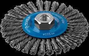 Щетка-крацовка STAYER 35192-115 дисковая для УШМ, 115мм, М14, проволока 0.5мм