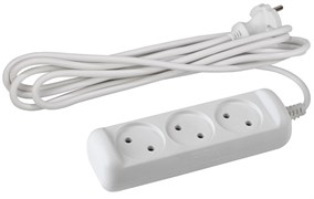 Удлинитель ЭРА Б0028355 U3-3m, ПВС 2x1мм2, 3 розетки, 3м, 10А, IP20, без заземления