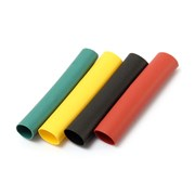 Трубки термоусадочные IEK ТУТ UDRS-D2-D6-D8-10-3, 2/1 4/2 6/3 8/4 З, С, К, Ч, 20x8см, 0.8м, набор 20шт.