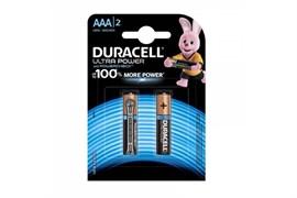 Батарейка Duracell Ultra Power LR03-2BL BP2, Б0038760, алкалиновая/щелочная, мизинчиковая, блистер 2шт.