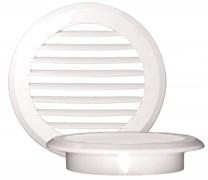 Решетка вентиляционная EVENT ПКР170, без фланца, с жалюзи, круглая, пластиковая, белая