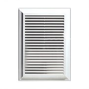Решетка вентиляционная ЭРА 1515Р, 150х150мм, разъемная, с антимоскитной сеткой, с жалюзи, пластиковая, белая
