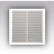 Решетка вентиляционная ЭРА 1919С, 190х190мм, с антимоскитной сеткой, с жалюзи, пластиковая, белая