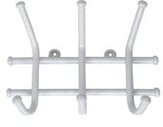 Вешалка настенная Норма-3 ВН64БС, 245x80x165мм, металл, белое серебро