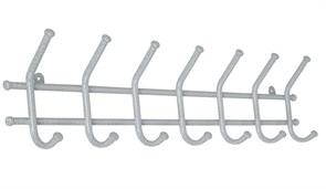Вешалка настенная Норма-7 ВН66БС, 705x80x165см, металл, белое серебро