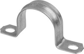 Скоба металлическая Светозар, диаметр 19мм, двухлапковая,  для крепления металлорукава 25мм, упаковка 50шт