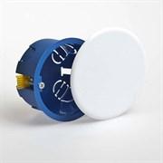 Коробка распределительная/распаячная Рувинил/Ruvinil 10174, 80х45мм ГСК, скрытой проводки СП, круглая, синяя
