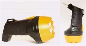 Фонарь ручной Облик 205, аккумуляторный 4В 0.4Аh, 1 светодиод 0.4Вт, 35Лм, встроенная вилка, 220В, желтый