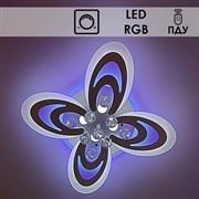 Люстра подвесная LED-встроенная 55075/4+1, RGB, диаметр 580мм, LED 2x72W, ПДУ, диммер, SDA19