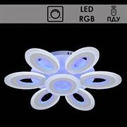 Люстра подвесная LED-встроенная 55074/6+1, RGB, диаметр 620мм, 2x105W, LED BP, ПДУ, диммер, WT белый, SDA19