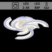 Люстра подвесная LED-встроенная 55388/3, LED 2х30W+16W, 3000-5000k, диаметр 520мм, sda20, WT белый