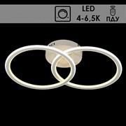 Люстра подвесная LED-встроенная YT144/88W, 2х22+2х22W, 4000-6500K, диаметр 580мм, ПДУ, диммер, QH20, WT белый