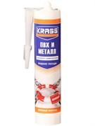 Клей Жидкие гвозди KRASS Прочный монтаж, для ПВХ и металла, бежевый, 300мл