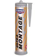 Клей Жидкие гвозди KRASS ULTRA MONTAGE (УЛЬТРА МОНТАЖ), универсальный, белый, 260мл