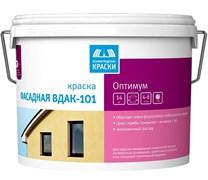 Краска Тэкс Оптимум ВДАК-101 акрилатная, для наружних/фасадных работ, белая, глубокоматовая, 3кг