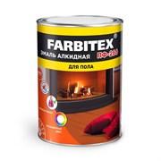 Эмаль FARBITEX ПФ-266, алкидная, для пола, красно-коричневая, глянцевая, 2.7кг