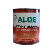 Грунт-эмаль по ржавчине ALOE 3в1, молотковая/по ржавчине, высокоглянцевая, шоколад, 0.8л