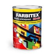 Эмаль FARBITEX ПФ-115, алкидная, для наружных и внутренних работ, шоколад, глянцевая, 2.7кг