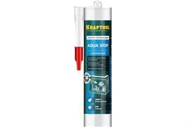 Герметик KRAFTOOL KRAFTFLEX GX107 AQUA STOP 41256-2, силиконовый, стекольный, прозрачный, 300мл