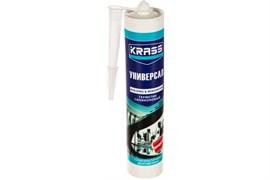 Герметик KRASS, силиконовый, универсальный, бесцветный, 300мл