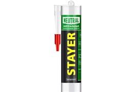 Герметик STAYER MASTER, силиконовый, нейтральный, прозрачный, 260мл