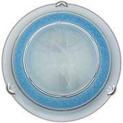 Светильник настенно-потолочный Дюна, диаметр 300мм, 2х60W, E27, G99, голубой/хром