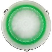 Светильник настенно-потолочный Дюна 2225 Орхидея, диаметр 250мм, 1х60W, E27, зеленый/хром