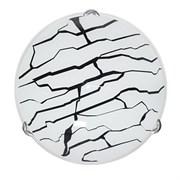 Светильник настенный/бра Дюна Мрамор, диаметр 250мм, 1х60W, E27, белый/глянец/хром