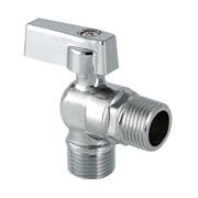 Кран шаровой угловой VALTEC 15x15мм (1/2х1/2дюйма), для подключения сантехнических приборов, ручка флажок