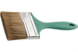 Кисть плоская STAYER LASUR-EURO 01081-100, 100мм, смешанная щетина, пластиковая ручка